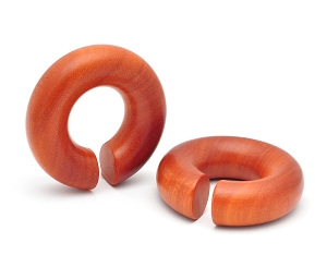 Saba Wood Round Rings