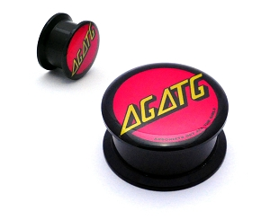 Black Acrylic AGATG Santa Cruz Skate Metal Picture Plugs