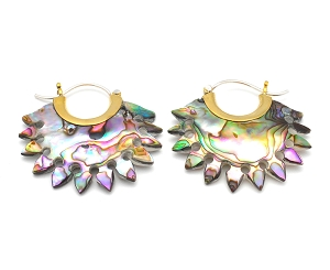 Abalone Fan Earhoops