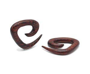 Ebony Wood Triangular Spirals