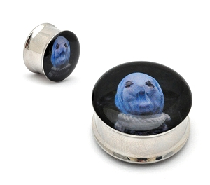 The Faceless In Becoming A Ghost Steel Picture Plugs