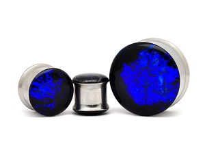 Embedded Midnight Iridescence Resin Plugs