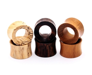 Set of 3 Pairs Wood Tunnels (Sono, Tamarind, Teak)