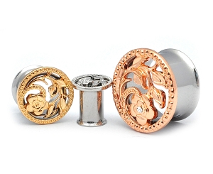 316L Stainless Steel Tunnels with Steel Flower