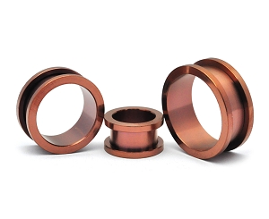 316L Matte Bronze Stainless Steel Tunnels