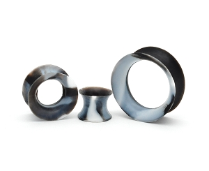 Black and White Marble Silicone Tunnels
