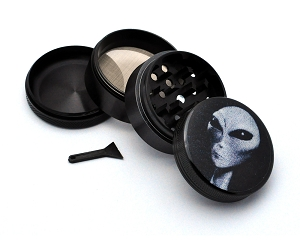 Aluminum Alloy 5-piece Alien Picture Grinder