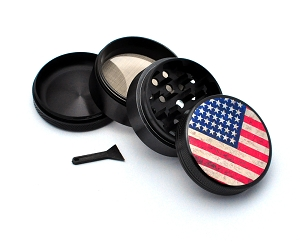 Aluminum Alloy 5-piece American Flag Picture Grinder