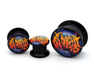 Black Acrylic A Night in Texas Global Slaughter Logo Picture Plugs