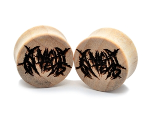 Laser Engraved A Night in Texas Logo Crocodile Wood Plugs