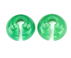 Round Stone Keyhole Ear Weights