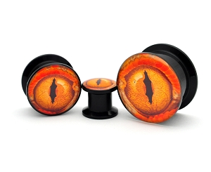 Black Acrylic Eye Style 12 Picture Plugs