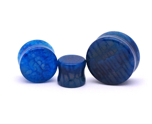 Blue Dragon Vein Agate Stone Plugs