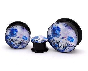 Black Acrylic Born of Osiris Tomorrow We Die Alive Picture Plugs
