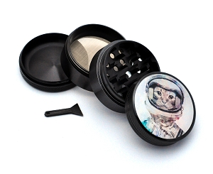 Aluminum Alloy 5-piece Cat Astronaut Picture Grinder