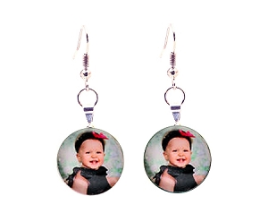 Custom Picture Dangling Earrings