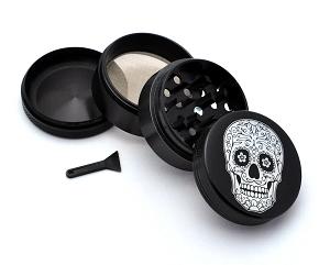 Aluminum Alloy 5-piece Day of the Dead Style 5 Picture Grinder