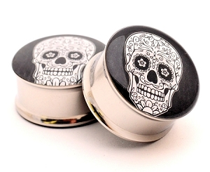 Day Of The Dead Style 5 Picture Plugs