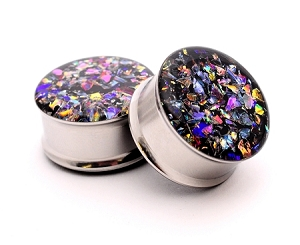 Embedded Dichroic Glass Plugs