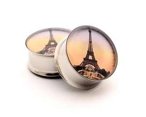 *CLOSEOUT* Eiffel Tower Picture Plugs STYLE #1