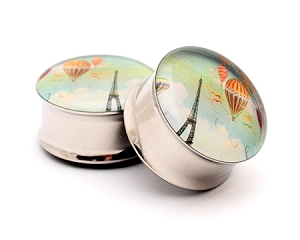 Eiffel Tower Picture Plugs STYLE #3