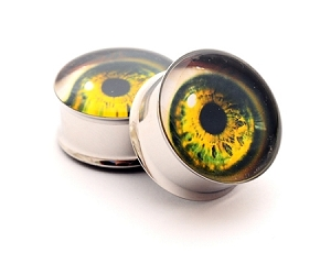 *CLOSEOUT* Eyeball Picture Plugs STYLE #11