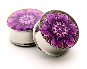 Filigree Picture Plugs Style 3