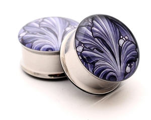 Filigree Picture Plugs Style 4