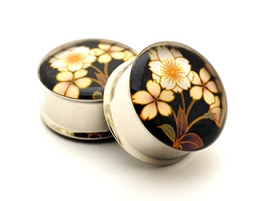 Japanese Flower Picture Plugs STYLE #4