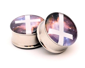 Galaxy Cross Picture Plugs