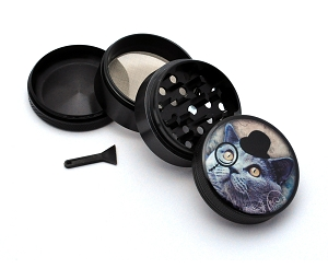 Aluminum Alloy 5-piece Gentleman Kitty Picture Grinder