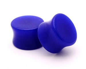 Blue Glow in the Dark Acrylic Double Flare Plugs