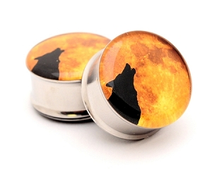 Howling Wolf Picture Plugs