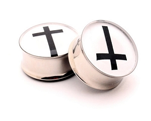 Cross Picture Plugs Style 2