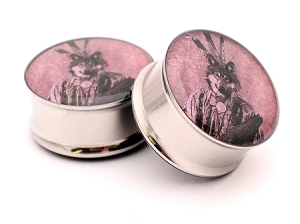 Indian Wolf Picture Plugs