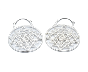 Hoop Earrings with Sacred Geometry
