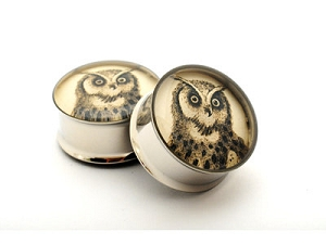 Owl Picture Plugs Style 4