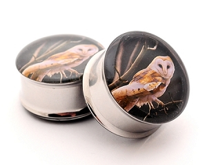 *CLOSEOUT* Owl Picture Plugs Style 6