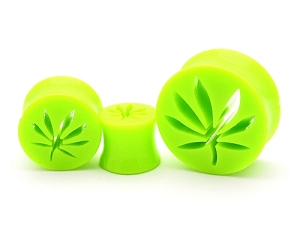 Acrylic Pot Leaf Cut Out Plugs