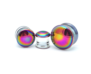 Oil Slick Glass Plugs