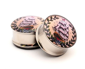 Pirate Ship Picture Plugs