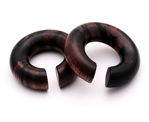 Areng Wood Round Rings
