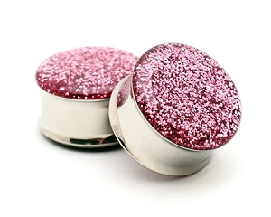 Embedded Rose Glitter Plugs