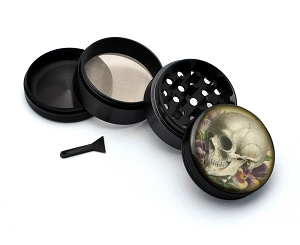 Aluminum Alloy 5-piece Vintage Skull Style 6 Picture Grinder