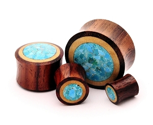 Sono Wood With Crushed Turquoise Stone Inlay