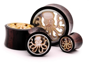 Sono Wood With Mother of Pearl Octopus Inlay