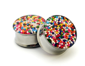 Embedded Sprinkles Resin Plugs