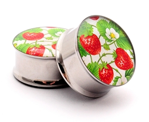 Strawberry Patch Picture Plugs