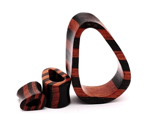 Striped Teardrop Wood Tunnels