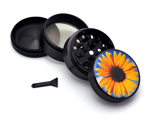Aluminum Alloy 5-piece Sunflower Picture Grinder